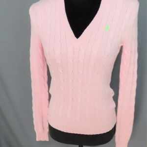 Pale Pink Long Sleeve Sweater By Ralph Lauren -S